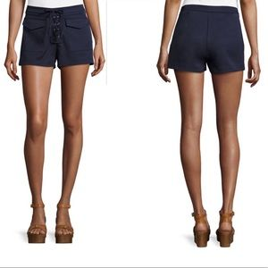 Romeo & Juliet Couture | Lace-Up Navy Shorts